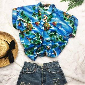 Vintage Hawaii Button Up Shirt Size L